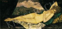 Feszty Masa - Akt toszkán tájban (Alvó Vénusz), 1929