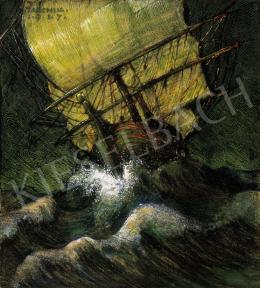 Jaschik, Álmos, - Sailing Boat, 1917