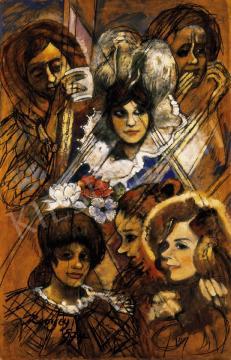 Remsey Jenő György - A színésznő négy arca (Ruttkay Éva) | 27. Aukció aukció / 117 tétel