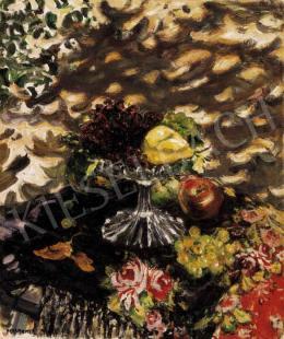 Perlmutter Izsák - Csendélet gyümölcsöstállal, 1910-es évek