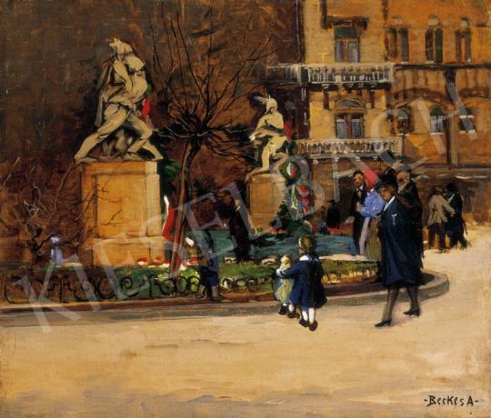 Berkes Antal - A Kodály Körönd Kisfaludy Strobl Zsigmond Irredenta Emlékművével | 27. Aukció aukció / 139 tétel