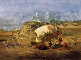 Markó Ferenc - Ekhós szekér, 1872