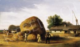 Böhm Pál - Szénabehordás