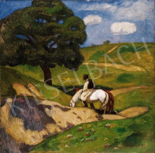 Iványi Grünwald Béla - Itatás | 23. Aukció aukció / 73 tétel