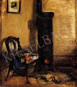 Nagy Balogh János - Szobabelső kályhával (Kályha székkel)