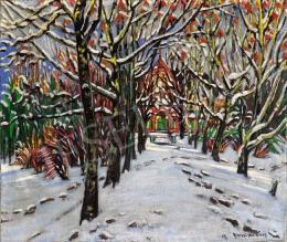 Boromisza Tibor - Nagybányai kertrészlet  télen, 1917