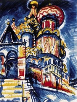 Uitz, Béla - The Blashenny Cathedral in Moscow, 1921