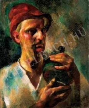 Aba-Novák, Vilmos - Self-Portrait, 1926 painting