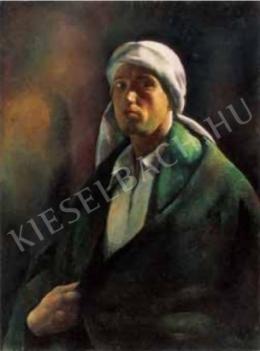 Patkó, Károly - Self-Portrait (Self-Portrait with a Turban), 1922