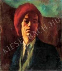 Szőnyi, István - Self-Portrait in a Red Cap, 1919