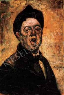 Scheiber, Hugó - Self-Portrait Shouting, Early 1920s