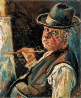 Scheiber Hugó - Önarckép kalapban, 1920-as évek eleje