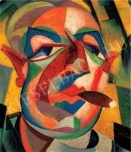 Scheiber, Hugó - Self-Portrait with a Cigar, c. 1930