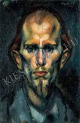Derkovits Gyula - Szakállas önarckép, 1922