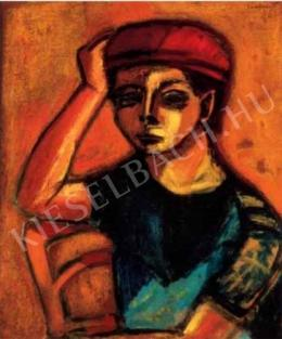 Bálint, Endre - Self-Portrait in a Red Cap, 1946