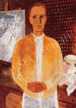 Bernáth, Aurél - Self-Portrait in a Yellow Coat, 1930