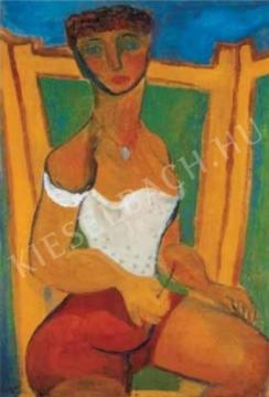 Anna Margit - Önarckép fürdőruhában, 1939 festménye