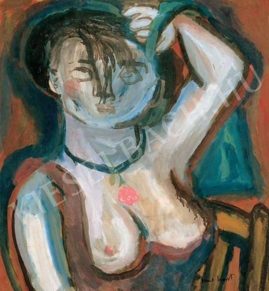 Anna Margit - Fésűs önarckép, 1940 körül festménye
