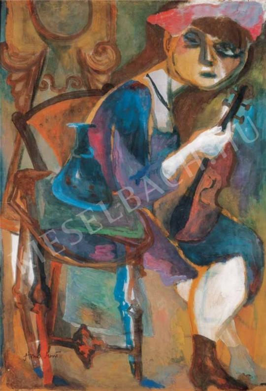 Anna Margit - Önarckép, 1940-es évek eleje festménye