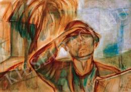 Egry József - Önarckép napsütésben (A festő), 1927