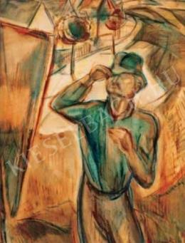 Egry József - Festő állvány előtt (A festő), 1928