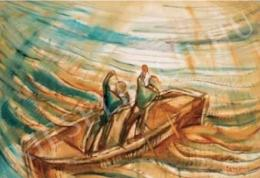 Egry József - Balatoni halászok, 1923