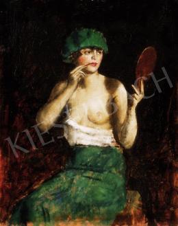 Basch Andor - Szépítkező nő