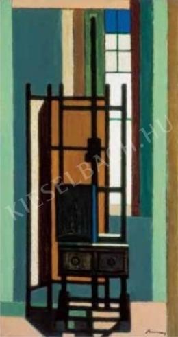 Barcsay Jenő - Festőállvány ablak előtt, 1961