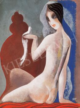 Kádár, Béla - Nude with a Bird