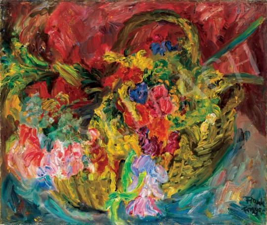 Frank Frigyes - Virágok kosárban | 28. Aukció aukció / 14 tétel