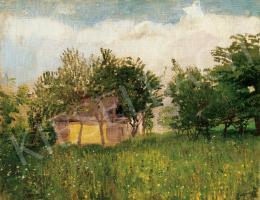 Mednyánszky László - Kertészlak tavaszi kertben