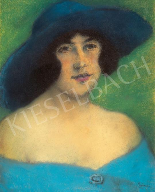 Rippl-Rónai József - Lány kék kalapban   28. Aukció aukció / 25 tétel