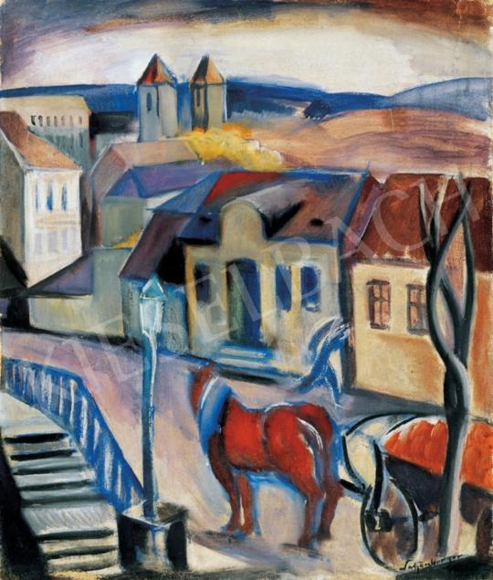 Schönberger Armand - Tájkép (Buda) | 28. Aukció aukció / 27 tétel