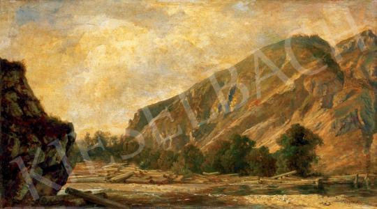 Telepy Károly - Hegyi folyó ( A Vág völgye) | 28. Aukció aukció / 43 tétel