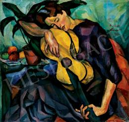 Perlrott Csaba, Vilmos - Girl with a Guitar, 1911