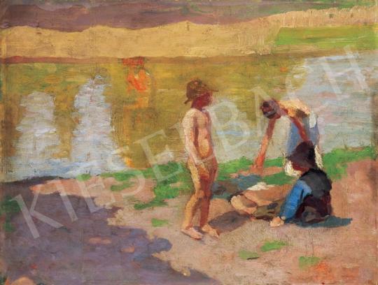 Fényes Adolf - Gyerekek a folyóparton   28. Aukció aukció / 48 tétel