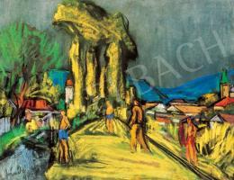 Jándi Dávid - Nagybányai táj alakokkal