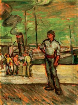 Egry József - Kikötőben