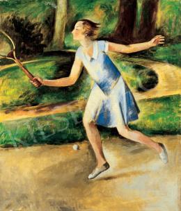 Bató József - Teniszező lány