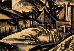 Uitz, Béla - Expressionist landscape, 1918
