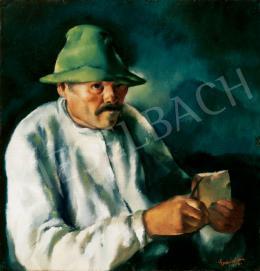 Erdélyi Ferenc - Kalapos férfi, 1930
