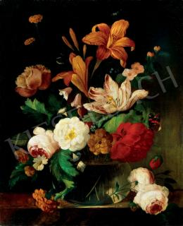 Unknown Hungarian painter - Still Life of Flowers
