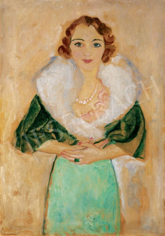 Frank Frigyes - Nő gyöngysorral   28. Aukció aukció / 175 tétel