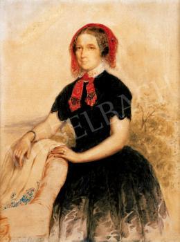 Barabás Miklós - Hölgy csipkekendővel, 1850