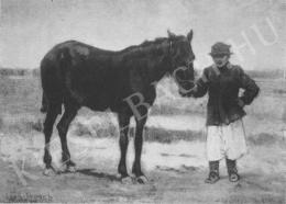Deák Ébner, Lajos - Man with Horse