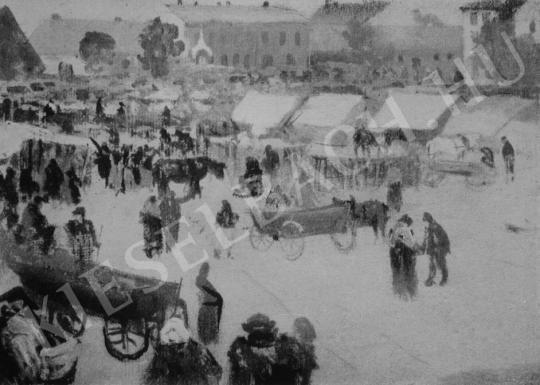Katona Nándor - Zakopanei vásár festménye
