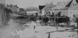 Pállya Celesztin - Kocsik a vásáron