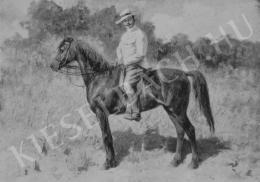 Pállya Celesztin - Wolfner Gyula lovasarcképe