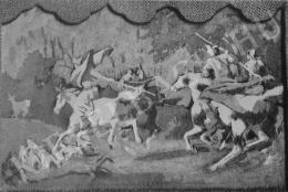 Székely Bertalan - A csodaszarvas regéje (Freskóvázlat a vajdahunyadi sorozatból)