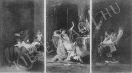 Székely Bertalan - Egy könnyelmű nő élete Vázlat (Hármas kép)